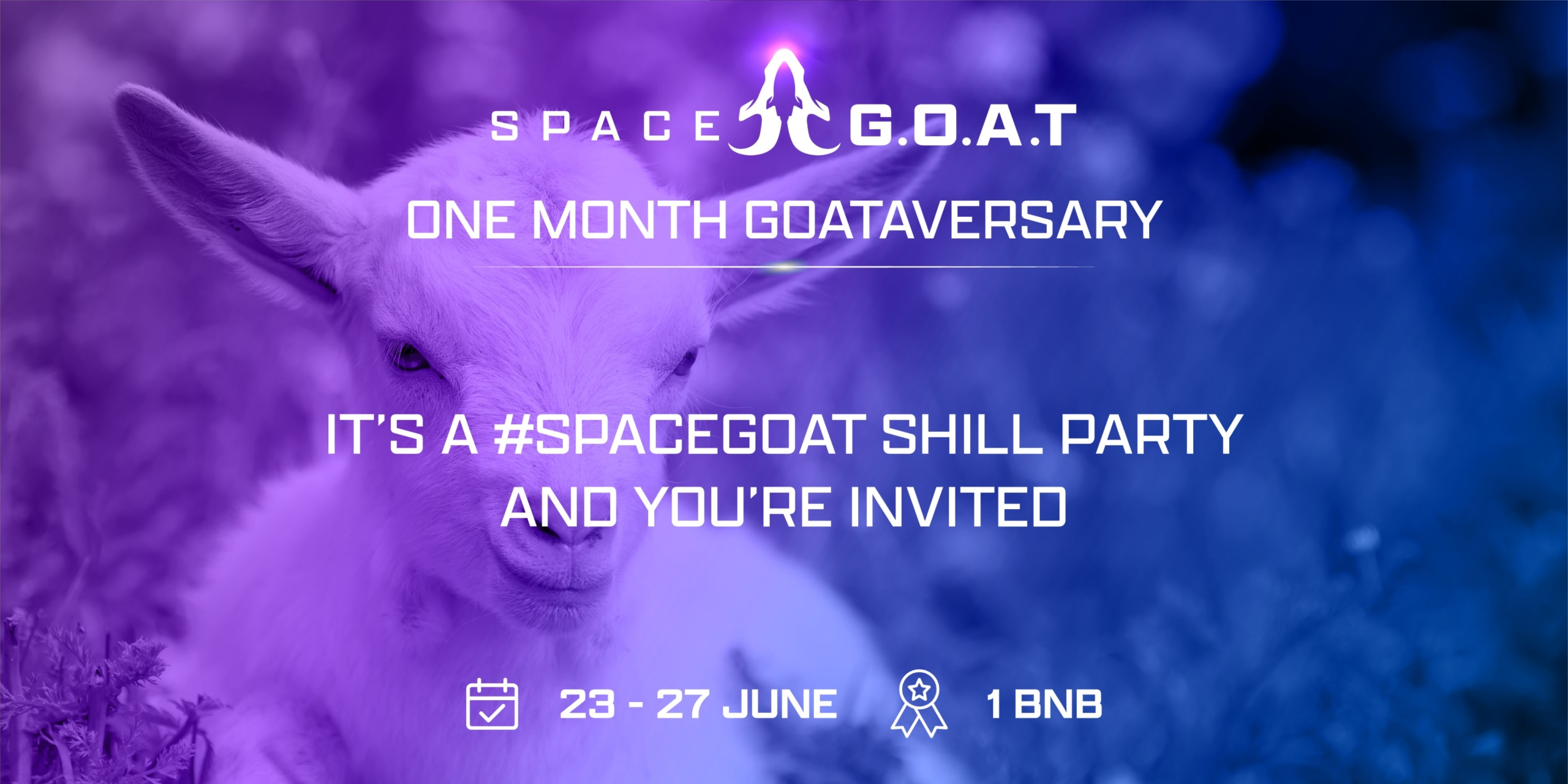SpaceGoat 1 Month Goataversary